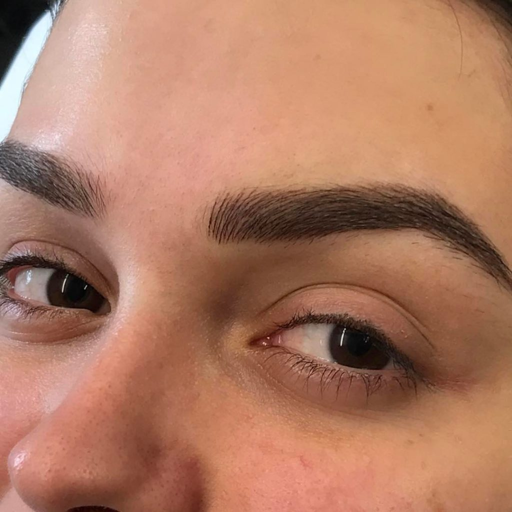 Semi Permanent Ombre Microblading Eyebrows Hairstroke Brows